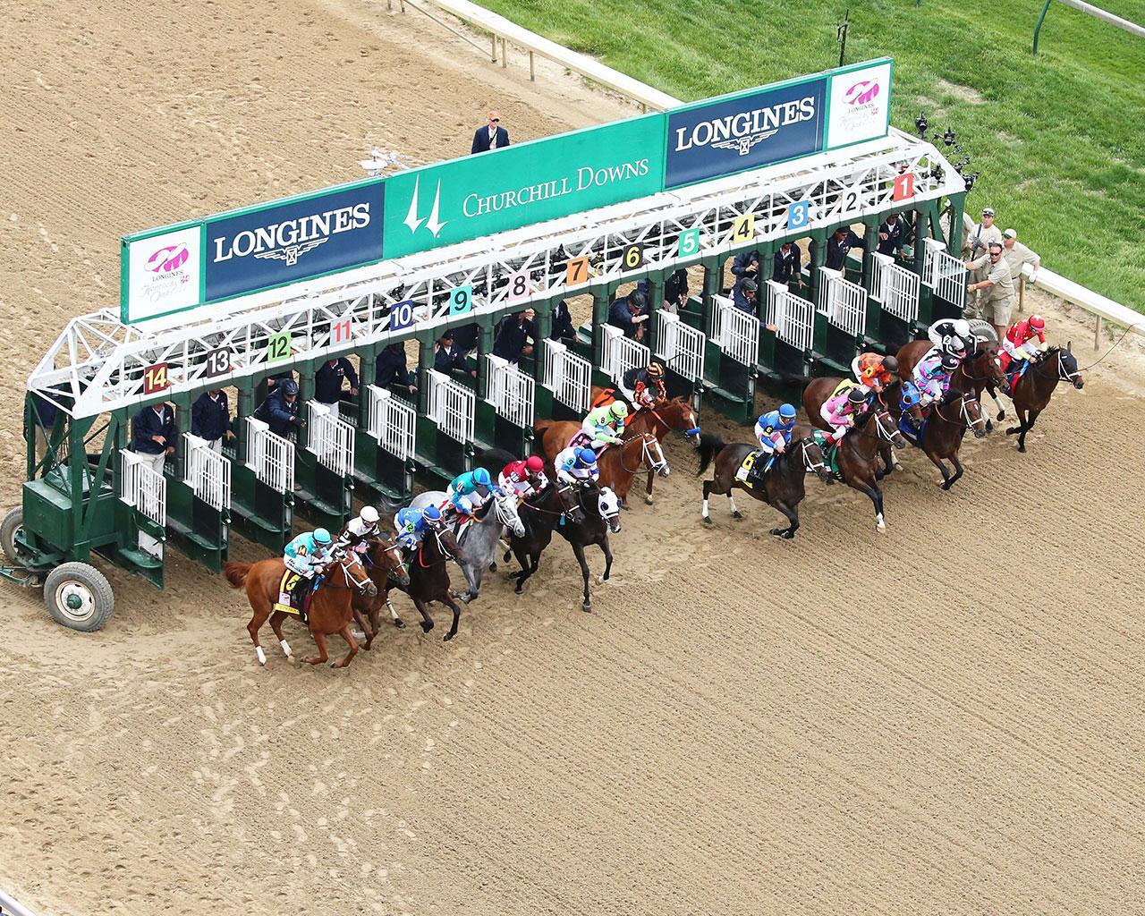 MONOMOY-GIRL---Longines-Kentucky-Oaks---G1---144th-Running---05-04-18---R11---CD---Aerial-Start-01