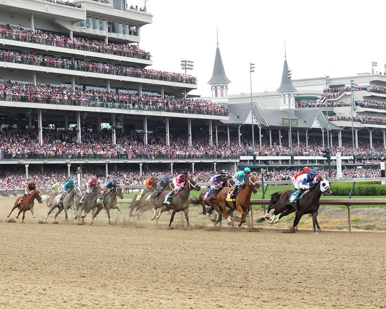 MONOMOY-GIRL---Longines-Kentucky-Oaks---G1---144th-Running---05-04-18---R11---CD---First-Turn-01