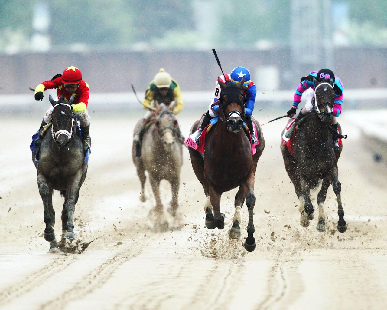 AMERICAN GAL - The Humana Distaff G1 - 32nd Running - 05-05-18 - R06 - CD - Head On Finish 01