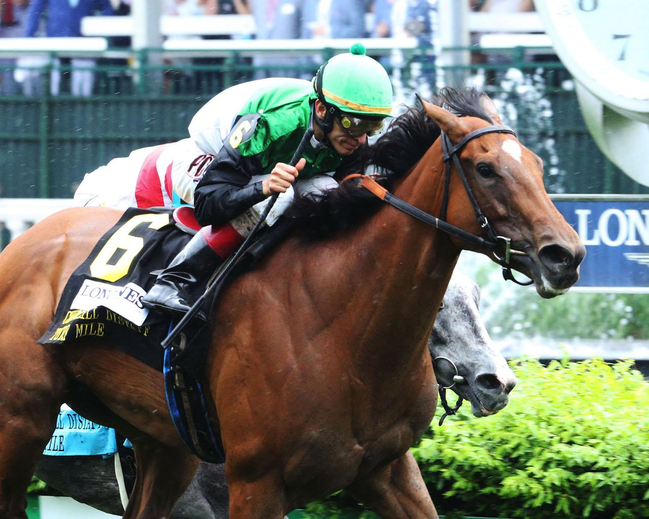 PROCTOR'S LEDGE - The Longines Churchill Distaff Turf Mile G2 - 33rd Running - 05-05-18 - R07 - CD - Finish 02
