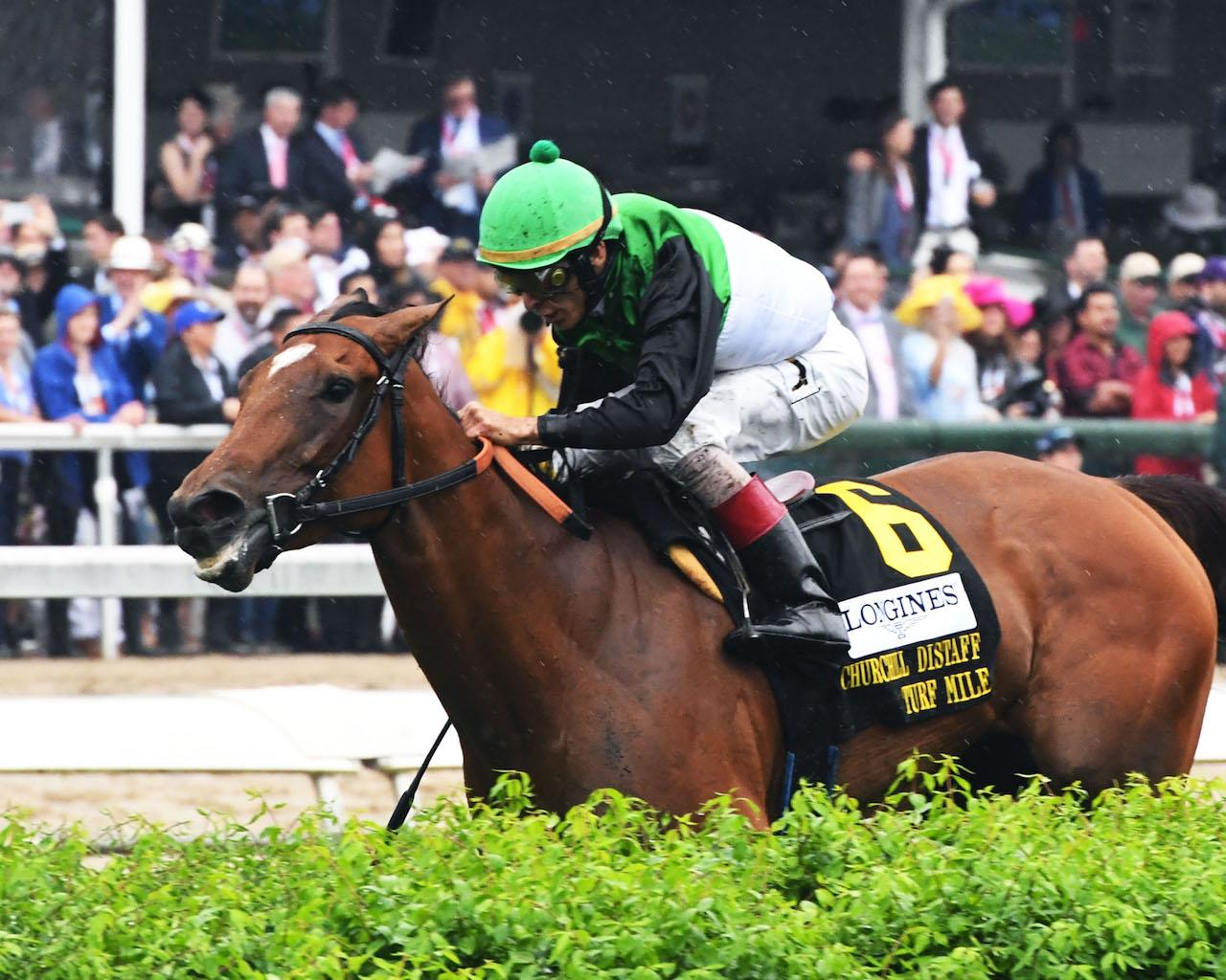 PROCTOR'S LEDGE - The Longines Churchill Distaff Turf Mile G2 - 33rd Running - 05-05-18 - R07 - CD - Inside Finish 01