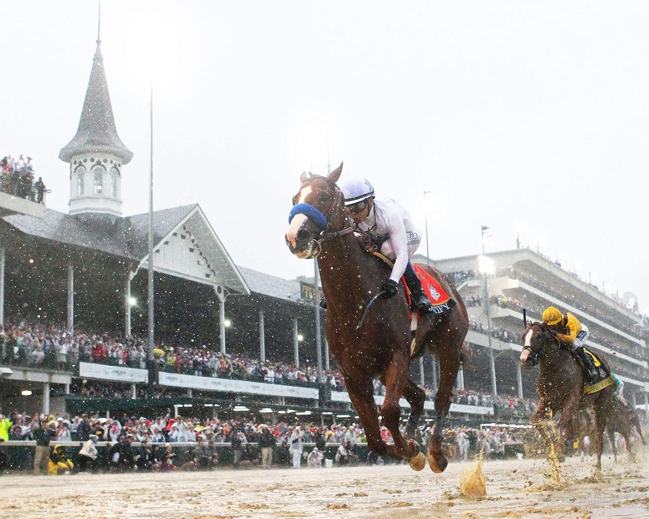 JUSTIFY---The-Kentucky-Derby-G1---144th-Running---05-05-18---R12---CD---Under-Rail-01