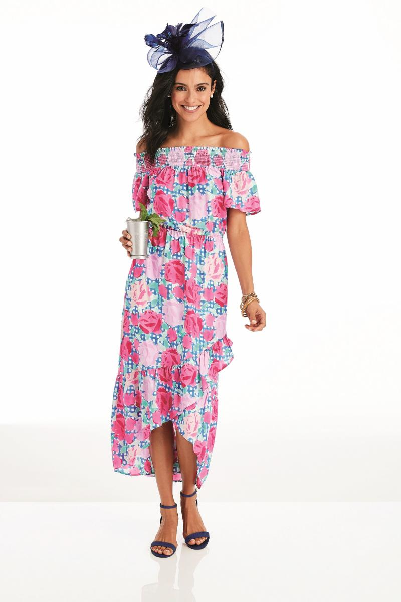 2019 vineyard vines Derby Line Off the Shoulder Run for…
