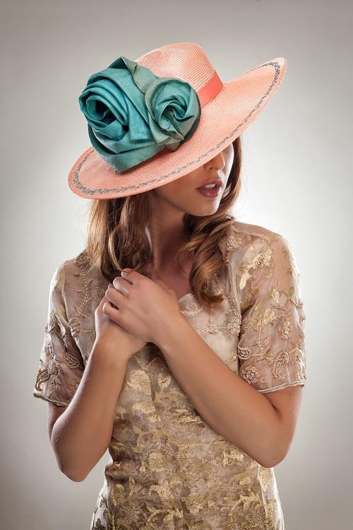 Peach Perfect Forme Millinery x