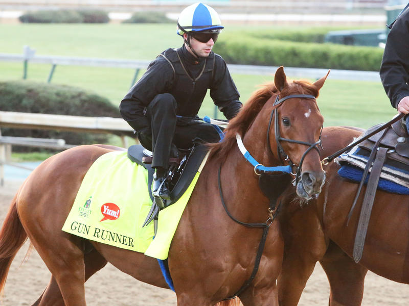 Gun Runner Fires 'Bullet  in Breeze for Kentucky Derby 142