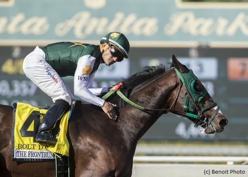 Bolt d'Oro draws rail in San Felipe