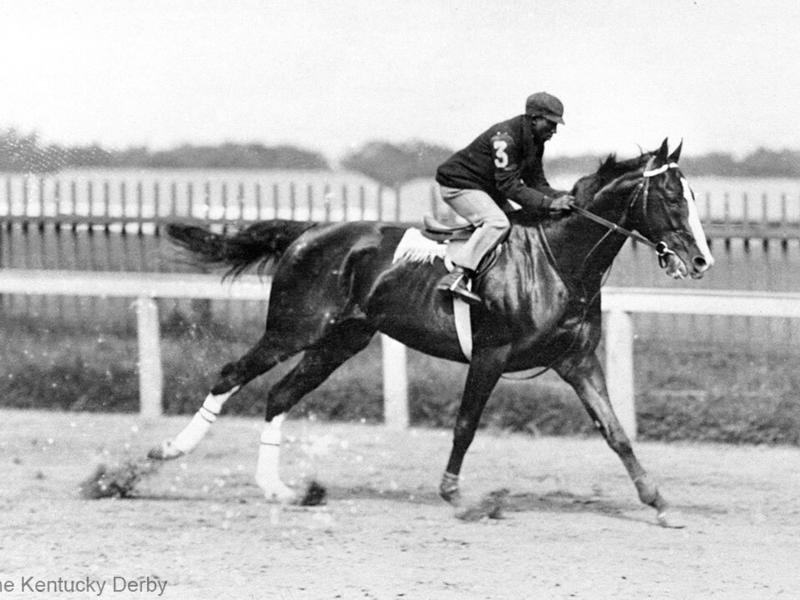 Jimmy Winkfield on 1902 Kentucky Derby winner Alan-a-Dale
