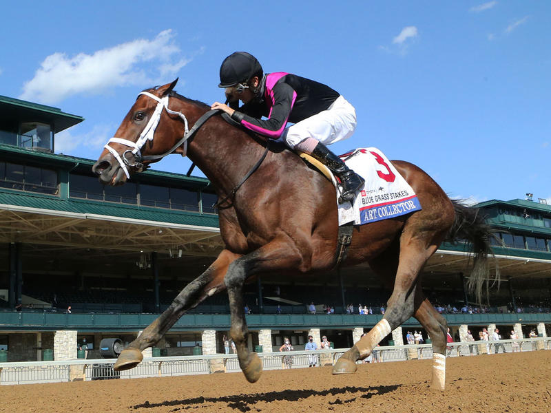 Art Collector wins the Blue Grass Stakes (Coady Photography)