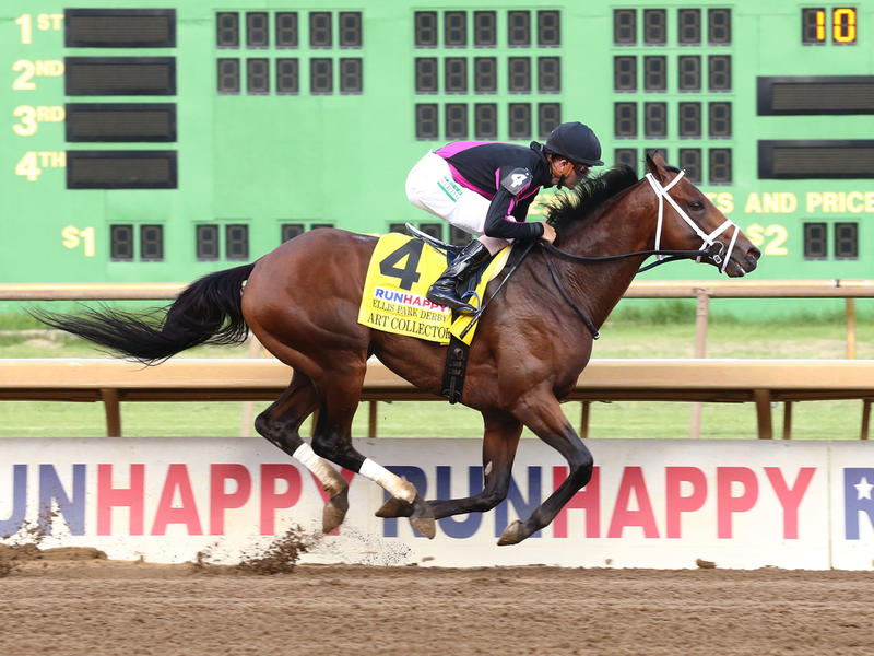 Art Collector wins the Ellis Park Derby and moves on to the Kentucky Derby (Coady Photography)