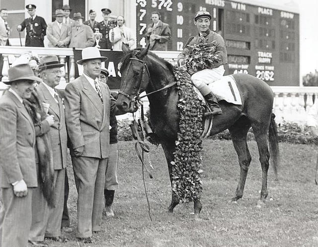 Citation in 1948 Kentucky Derby winner's circle