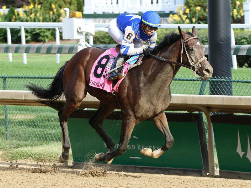 Dennis' Moment wins the Iroquois Stakes (G3) at Churchill Downs
