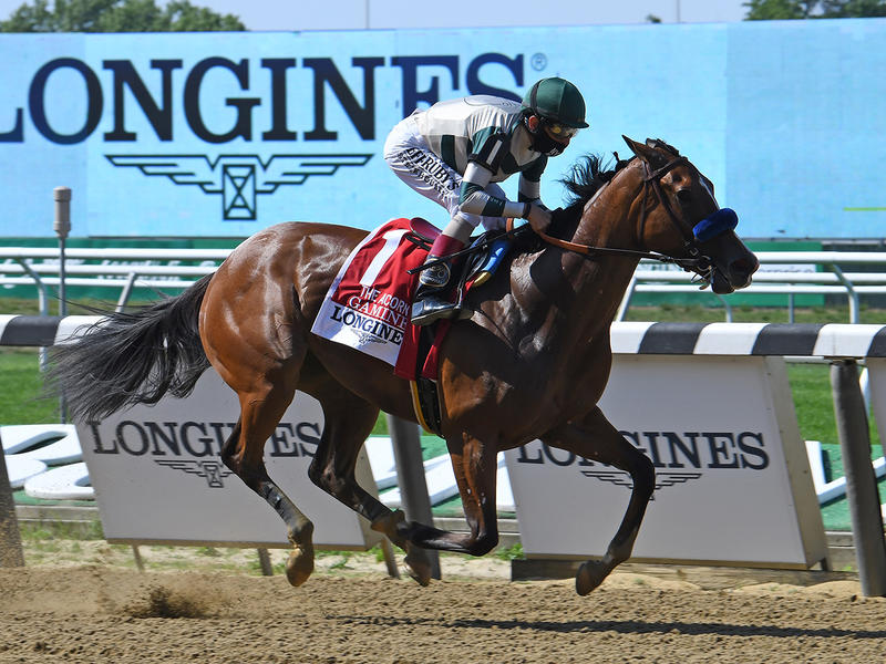 Gamine wins the Acorn Stakes (Coglianese Photos/Elsa Lorieul)