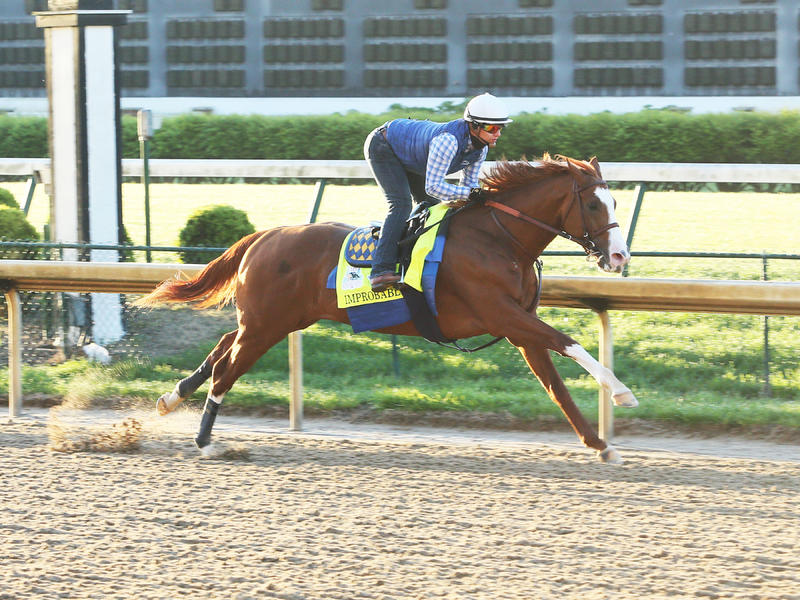 Improbable Breezing At Churchill Downs