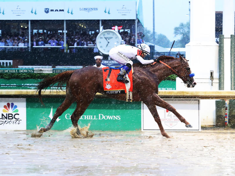JUSTIFY DELIVERS AS KENTUCKY DERBY FAVORITE BEFORE CROWD OF 157,813