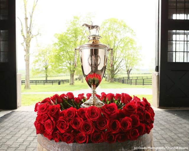 The 2019 Kentucky Derby trophy (c) Coady Photography/Churchill Downs