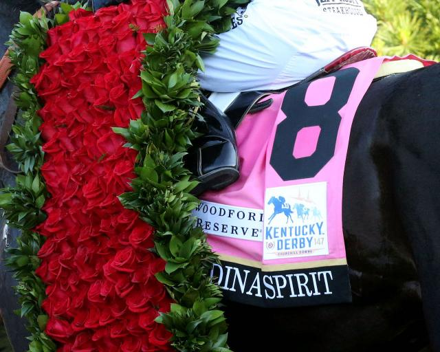 Medina Spirit Claims the Garland of Roses in the 147th Kentucky Derby Presented by Woodford Reserve