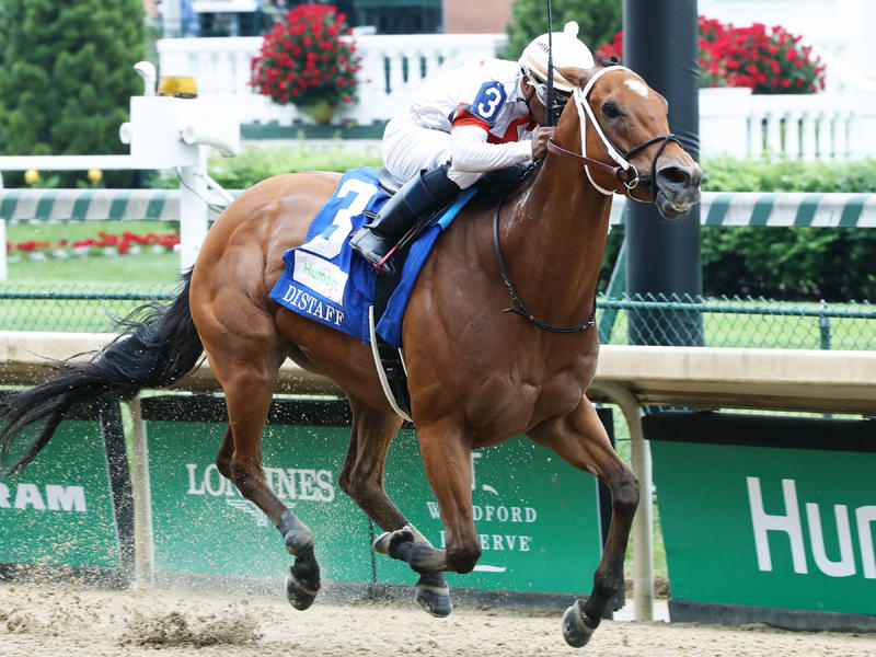 Mia Mischief Holds Off Marley's Freedom to Win Humana Distaff