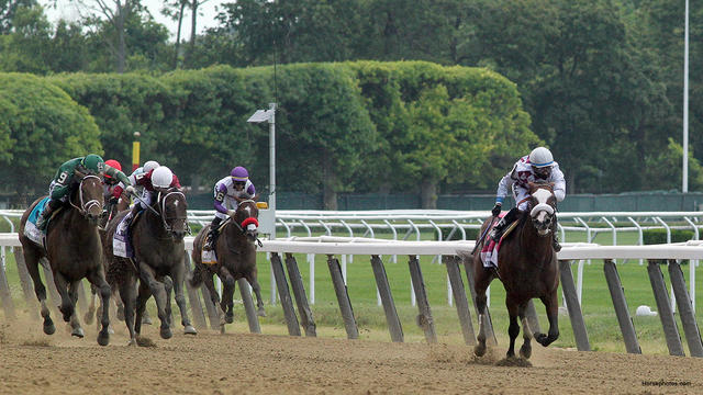 Tiz the Law wins the 2020 Belmont Stakes (Horsephotos.com)