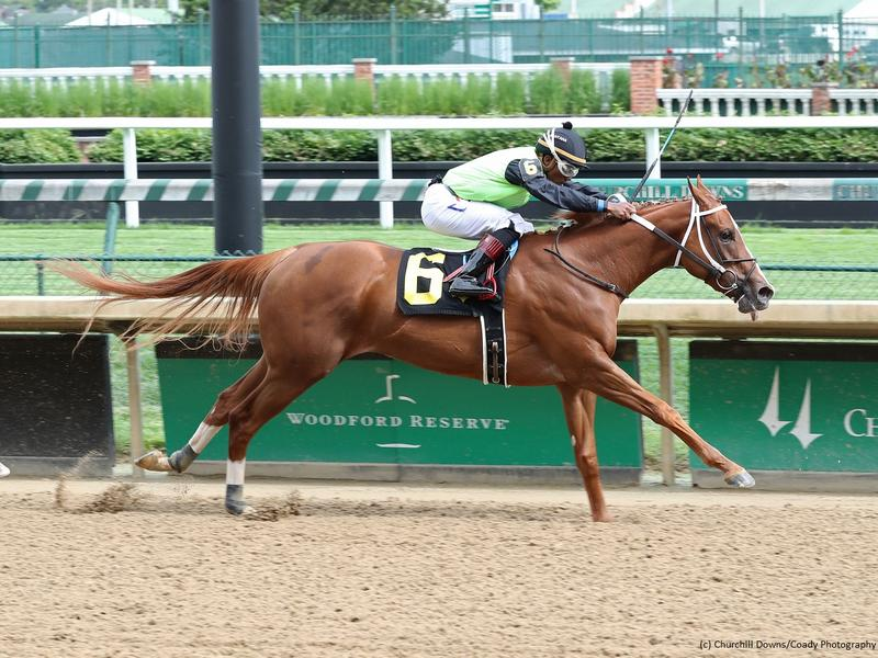 Casual winning a Churchill Downs allowance (c) Coady