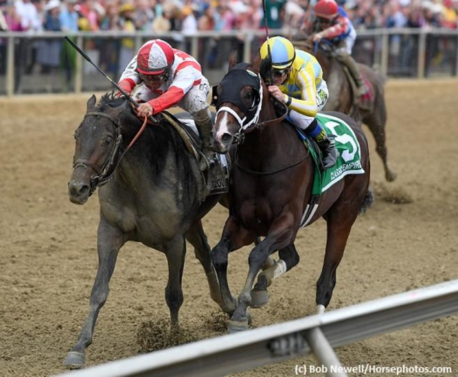 Cloud Computing rallies to triumph over Classic Empire in 142nd Preakness Stakes
