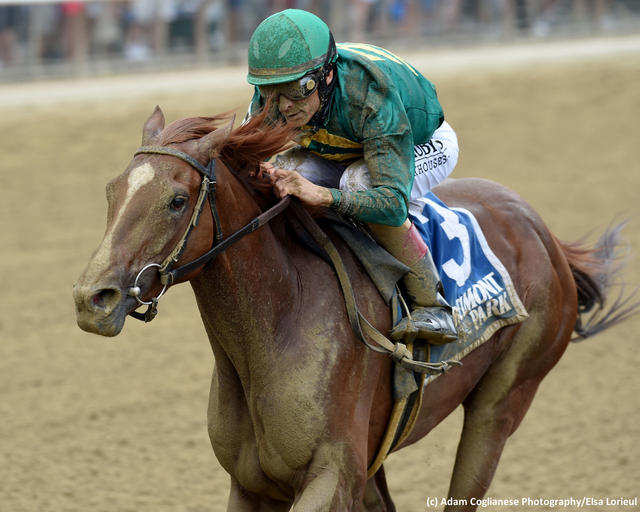 Code of Honor wins the Dwyer Stakes (G3)