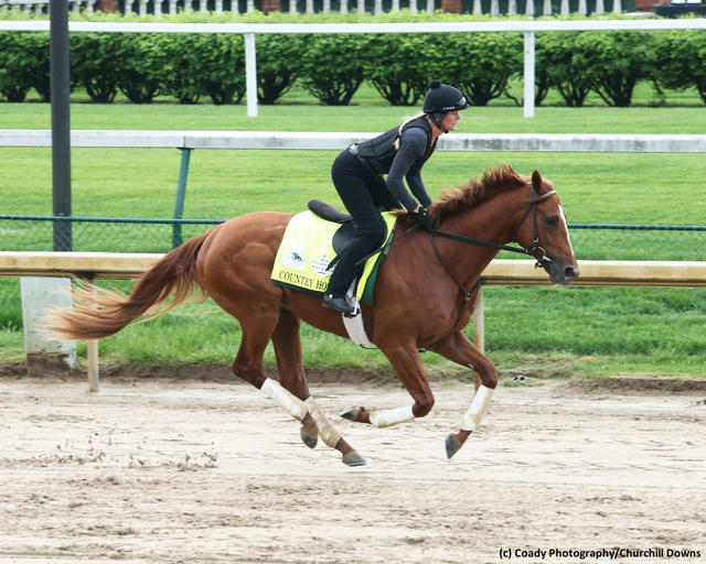 Country House training before the Kentucky Derby
