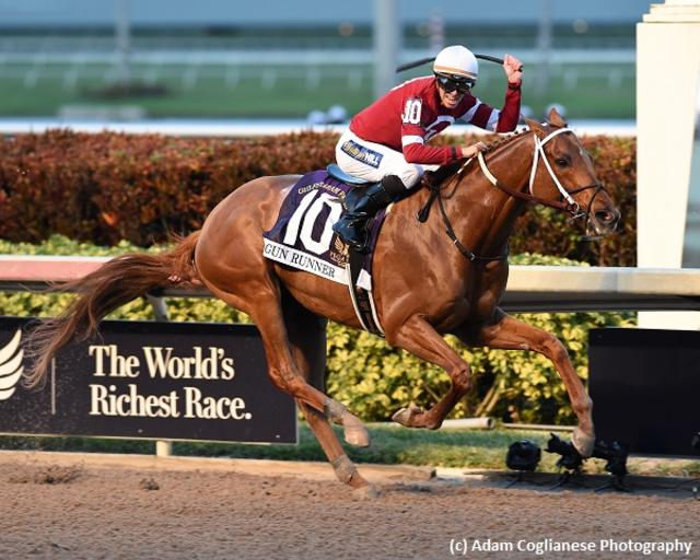 Gun Runner flies to Pegasus triumph in swan song