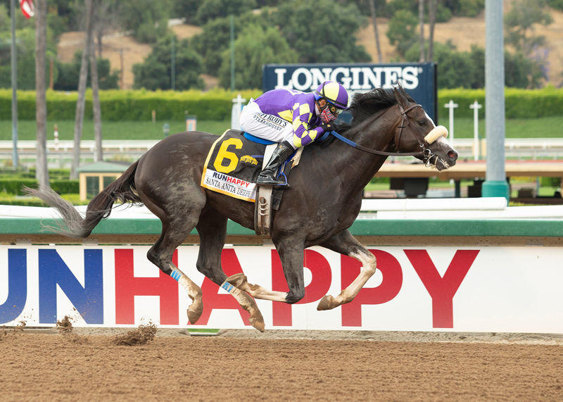 Honor A. P. wins the Santa Anita Derby (Benoit Photo)