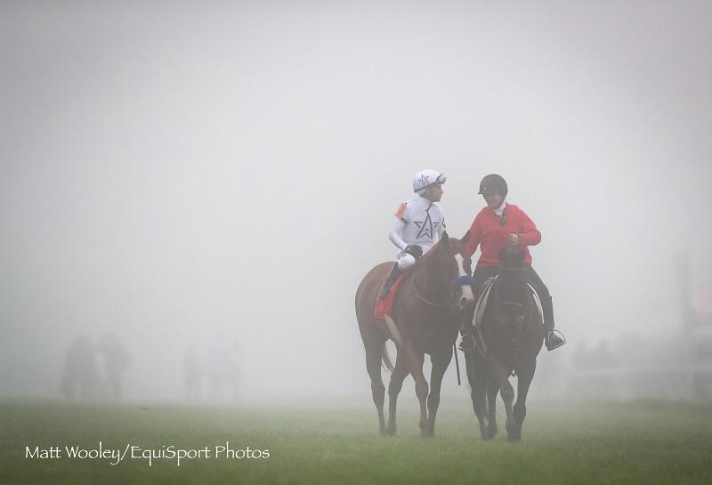 Justify shines through the fog for hard-fought win in Preakness Stakes 143