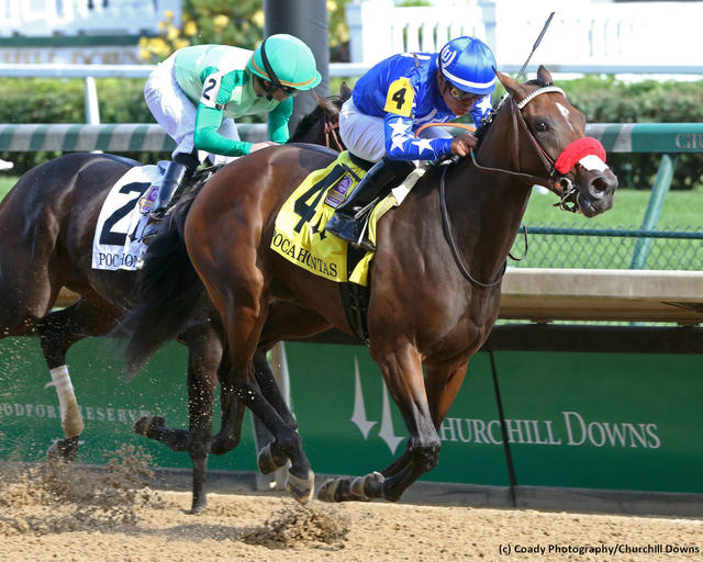 Lazy Daisy wins the Pocahontas Stakes (G2) at Churchill Downs