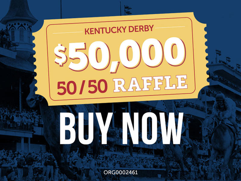 Churchill Downs Incorporated Foundation Announces 50/50 Charitable Gaming Raffles During Kentucky De
