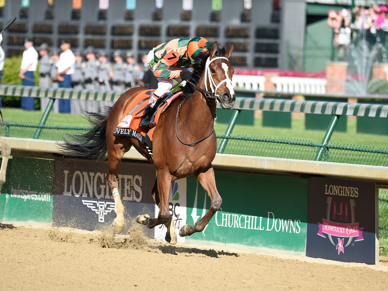 Lovely Maria Takes $1 Million Longines Kentucky Oaks Before Record Oaks Day Crowd of 123,763