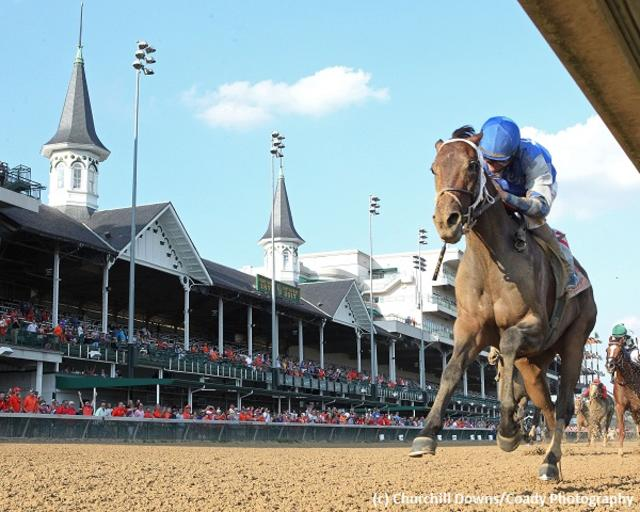 Patrona Margarita gets the Kentucky Oaks party started