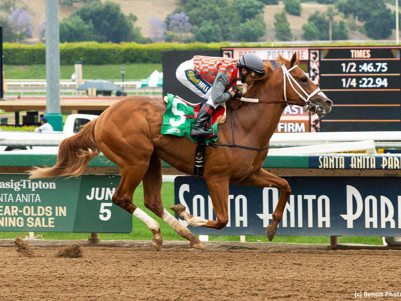 Phantom Boss breaks his maiden at Santa Anita Park on June 21, 2019
