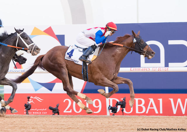 Plus Que Parfait wins the UAE Derby