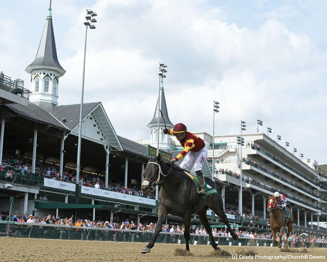 Rookie Salsa wins the Kentucky Juvenile Stakes at Churchill Downs on May 1