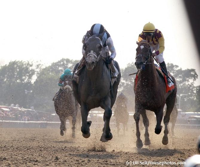 Tapwrit collars Irish War Cry to score in Belmont Stakes 149