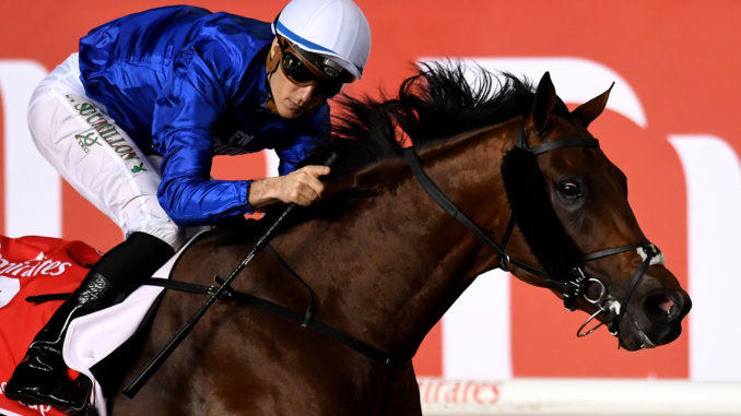 Thunder Snow winning the 2018 Dubai World Cup (G1)