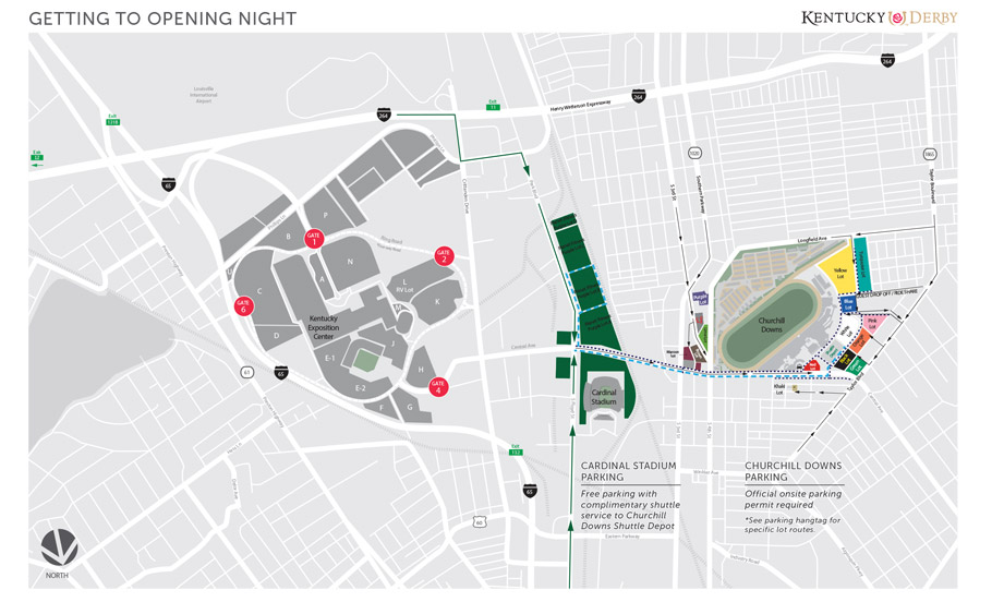 NEW Parking | 2020 Kentucky Derby & Oaks | May 1st and 2nd, 2020 on kentucky expo center, las vegas convention center map, orange county convention center map, kentucky international convention center map, indiana convention center map, mandalay bay events center map, tucson convention center map,