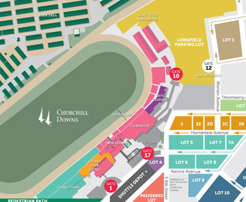 Maps Amp Directions  2017 Kentucky Derby Amp Oaks  May 5 And